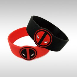 25pcs lot Deadpool Debossed Silicone Wristband Bracelet For Animation Fans