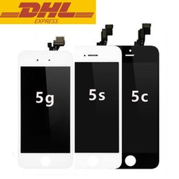 Wholesale 50pcs Iphone g c s LCD Display Screen With Touch Screen Digitizer Replacement Parts Assembly No Dead Pixels Lines In Stock