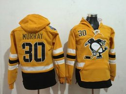2017 série de hockey Pittsburgh Penguins # 30 Murray Sports Hoodies Jaune 2017 Stadium Series Premier Player Stitched Sports Hoodies Veste de hockey pas cher pour les hommes budget série de hockey