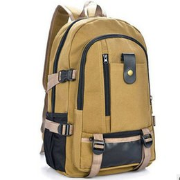 Wholesale Unisex Vintage Canvas Backpack Rucksack Bags Multifunctional Design Men Satchel Bag Backpack Laptop Bags Military Tactical Backpack