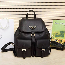 Wholesale Luxury School Bags - Luxury brand 1: 1 high quality fashion backpack famous brand Genuine Leather shoulder bag handbag backpack Lady bags school bag