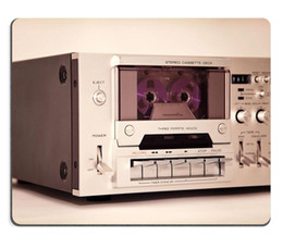 Wholesale Custom Unique Mouse Pad Natural Rubber MousepadsVintage cassette stereo tape deck recorder
