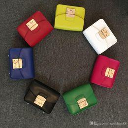 New Famous Fashion Brand Design Women Crossbody Shoulder Bag Original Genuine Cowskin Leather Fula Metropolis Small Chain Bag Free Shipping