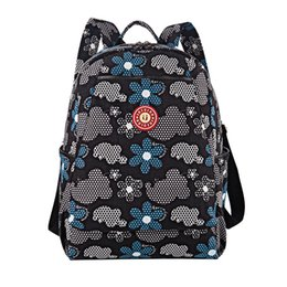 Wholesale Waterproof Nylon Floral Printing Women Backpack Fashion Women Knapsack School Bag