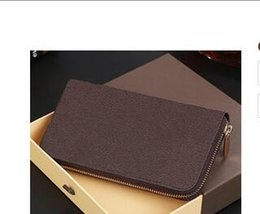 New arrive hot sell brown Wallets ladies fashion brand luxury pu zipper wallet long style purse trade2018