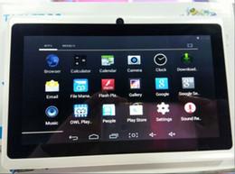 La fábrica dirige la PC dual libre de la tableta de la dual-base A23 4G 7 pulgadas de alto con el sistema del androide 4.1 Internet de WIFI con la cámara desde 3g usb libre fabricantes