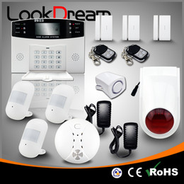 Update Home Alarm Systems Wireless Electronic House GSM Burglar Alert Security Low Consume Power By DHL