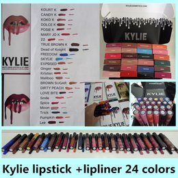 Wholesale Best kylie kit Lipstick KYLIE JENNER LIP KIT Matte Lipstick BROWN SUGAR DIRTY PEACH LOVE BITE smile pumpkin spice moon trick