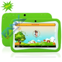 Wholesale The Newest Kids Tablet PC Inch Quad Core Android RK3126 GB x600 Capacitive Children Education Games MID Birthday Gift