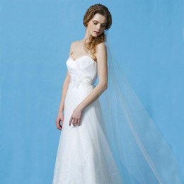 Simple One Layer Tulle Veil Wedding Dress Acessories White Veil Ankle Length Bridal Veils with Hair Comb