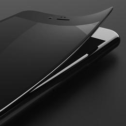 Descuento iphone vidrio de alta calidad Para el vidrio templado iphone7 / 7plus la superficie suave de la fibra del carbón de la fibra suave del lado de la pantalla protectora de la película de la alta calidad no rasgó la caja al por menor del borde