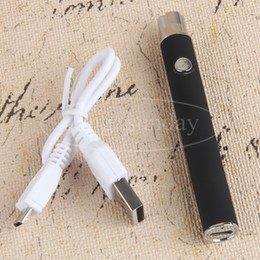 Ecig Vaporizers Variable Voltage Open Vape Battery 510 Thead 380mAh Preheating Batteries with Bottom eGo USB Charger for Vape CO2 Cartridge