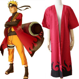 Naruto Uzumaki cosplay costumes Naruto Shippuden cloak Japanese anime Naruto red cloak halloween costume Masquerade costume