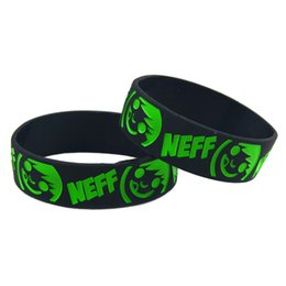 Wholesale 50PCS Lot Neff Smile Face Silicone Bracelet, A Great Way To Show Your Difference By Wearing This Wristband