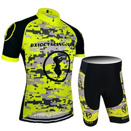 BXIO Yellow Men Cycling Jerseys Profession MTB Cycle Clothing Can Be Choose Bibs Or No Bibs Pants Bikes Clothes Suit BX-083