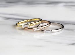 Superfine Imitation Diamond Silver Ring 925 Silver Emerald Cut Zircon