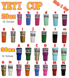 Wholesale The best quality NEW oz oz YETI Tumbler Rambler Cups Large Capacity Stainless Steel Tumbler Mugs Cooler cup
