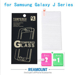 2.5D 9H Hardness Tempered Glass Screen Protector Film for Samsung Galaxy J1 J2 J3 J5 J7 Toughened Protective Film Guard with Paper Packaging