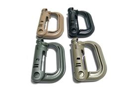 Plástico nexo en Línea-MOLLE ITW Nexus GrimLoc D-anillo de bloqueo clips Hollow Out plástico hebilla cierre Keychain 4 colores para 200pcs opcional A293