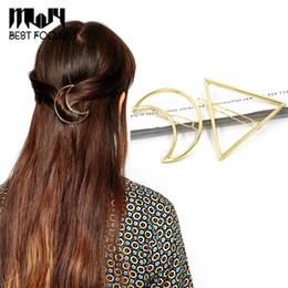 Promotion pinces à cheveux ronds MLJY 2016 nouvelle marque épingles à cheveux Triangle Moon Hair Pin Bijoux Lip ronde Hair Clip pour les femmes Barrettes Head Accessoires 24pcs / lot