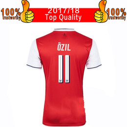 Wholesale Player Version Championships Home Red Soccer Jersey Ozil Alexis Giroud Football Shirt Thai Quality Arsenals Soccer Jerseys