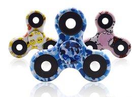 2017 HandSpinner Fingertips Spiral Fingers Fidget Spinner EDC Hand Spinner Acrylic Plastic Fidgets Decompression Gyro Toys Camouflage color