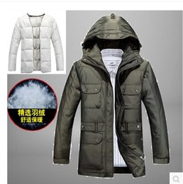 Wholesale hot sell New Famous Brand bei jing jeep Men s winter jackets Outdoors windproof waterproof parka Detachable liner warm coa
