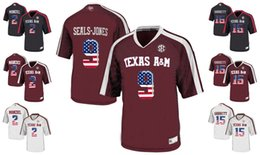 Promotion johnny maillots manziel 2017 US Flag Mode HommesTexas AM Aggies Maillots Johnny Manziel 2 Myles Garrett 15 Ricky Seals-Jones 9 Collège Jersey