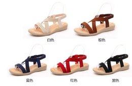 Women's Summer Sandals Flat Sandals Bohemia Bandage Leisure Ladies Outdoor Shoes