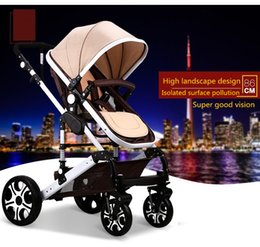 Wholesale 2017 news aluminum alloy Luxury baby pram Sit and Lie Baby Stroller Folding Baby Carriage High Landscape Colors