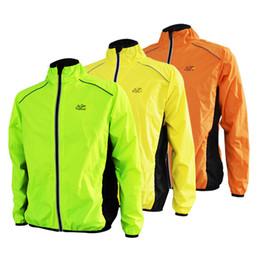 Promotion vélo vélo veste de manteau de pluie Vente en gros - Tour de France Running Jacket Men Sports Bike Cycling Jersey Veste à manches longues Respirant Reflective Wind Rain Coat À l'épreuve du vent