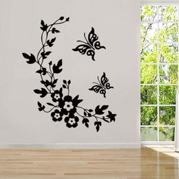 Newest Classic Butterfly Flower Home Wedding Decoration Wall Stickers For Living Room Decor Vinyl Decal Art Diy