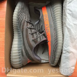 Wholesale 2017 DHL free best quality shoes sply Kanye West Boost v2 Moonrock Oxford Tan Pirate Black snakers Running shoe szie us us