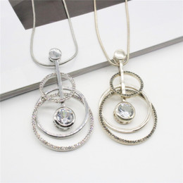 2017 New Long Guitar Pendant Necklaces Gold Silver Color Rhinestone Necklaces Sweater Chain Necklace Jewelry For Women