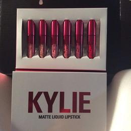 Promotion libre pc Kylie Collection Valentines Lipgloss Set 6 Pcs Lipkit Kylie Jenner cadeau Valentine Lipgloss 6pcs un ensemble DHL FREE