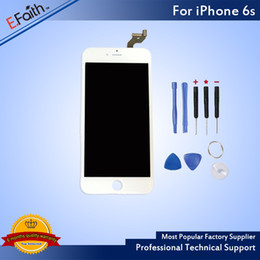 For White iPhone 6S Grade A+++ LCD Assembly 4.7 Inch Display With Touch Screen Digitizer Replacement & Free Shipping
