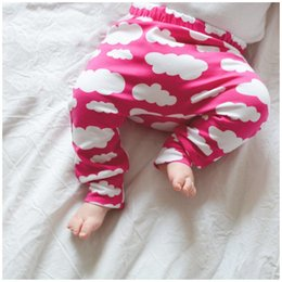 Wholesale On sale Kids Leggings Pants trousers PP harem Tights Baby legging toddler capris pants Clouds print boy girl clothes baby clothing colors
