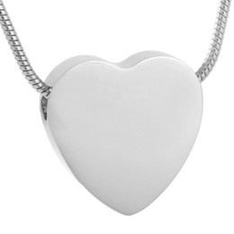 IJD8384 plain heart engravable ash urn heart 316l stainless steel cremation jewelry pendants 10pcs lot with free shipping