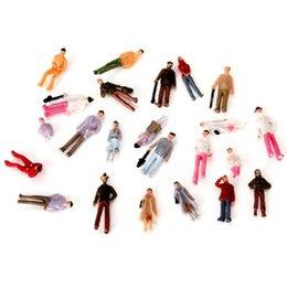 Figuras de la gente modelo en Línea-Venta al por mayor- Generated Painted Model People Mini 1:75 Escala OO Gauge Pintado