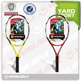 Wholesale 2017 Newest AAA Tennis Racket Racquet Sports Carbon Fiber Graphite Head Single Racket Soft Large Action Force Player Sports Outdoors WINMAX