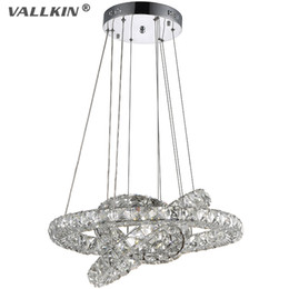 VALLKIN® DIY LED Pendant Lights K9 Crystal Chandeliers Ceiling Lamps Fixtures For Dining Room Living Room Study with AC100 to 240V