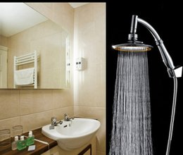Wholesale New Bathroom Shower Head Handheld Shower Head Bath Showering System Replacement Part Chrome bOOST wATER Showehead