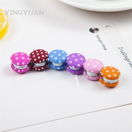 XT94 12pcs lot wholesale Double-faced lovely dots new elegant magnet brooches alloy especially broches hijab accessories brooches for women