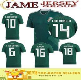 Top quality new 2018 world cup Mexico Soccer Jersey Home green 10 G.DOS SANTOS 14 CHICHARITO A.GUARDADO 19 O.PERALTA Football Shirt