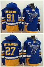 Promotion maillots de sport 2017 Winter Classic Hockey Maillots St. Louis Blues 27 Alex Pietrangelo 91 Vladimir Tarasenko Pull à capuche Sports Sweatshirts Veste