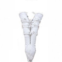 Adult products Female Leather Lacing and Buckling Leather Full Arm Bondage Gloves Restraint Sex Toy Submission Training