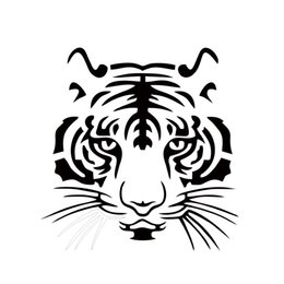 Hot Sale Cool Graphicscar Vinyl Decal Sticker Big Cat Tiger Face Car Stying Reflective Stickers Jdm 19*19.5cm