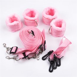 Furry Wrist Cuffs Ankle Cuffs for Sex BDSM Bondage Manacle Tool for Role Play Sexy Toys for Adult Play Games