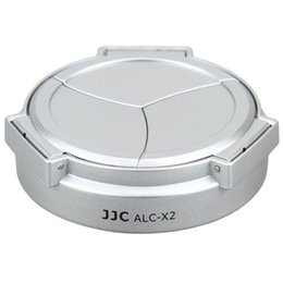 Descuento cámara leica Venta al por mayor-JJC ALC-X2 negro de plata ABS auto-retención automática abrir Cerrar Lens Cap para LEICA X1 X2 Digtal Cámaras