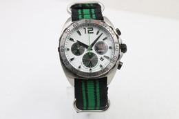 Wholesale best shop luxury brand watches men chronograph co axial cr7 quartz watch white needles green black band Watch Men dress Watches